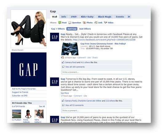 Gap Facebook Deals