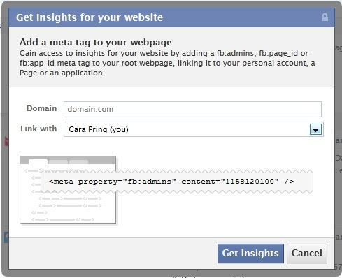 How to link your website to your Facebook Page or Profile