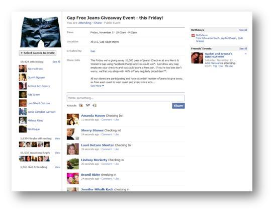 Gap Facebook Deals 2