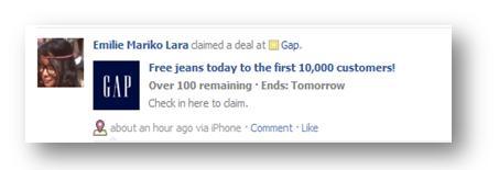Gap Facebook Deals 3