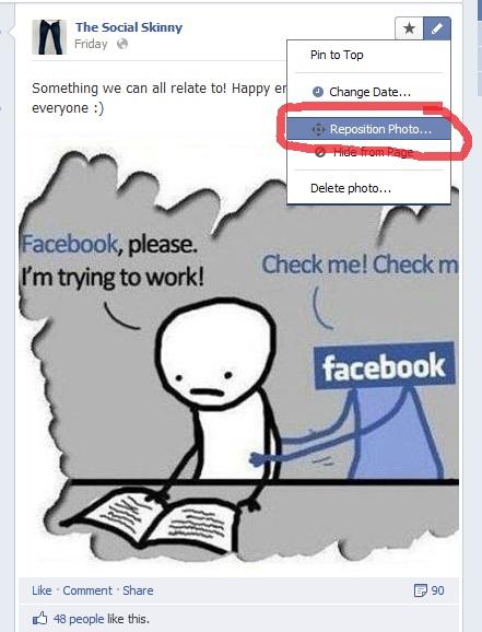 Facebook Reposition