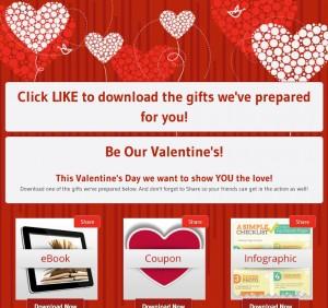 Valentines Facebook App